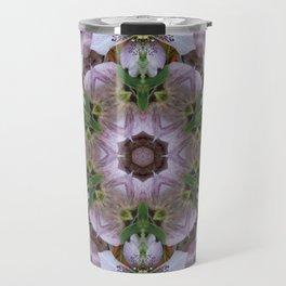 Hellebore Mandala - Abstract Floral Art by Fluid Nature Travel Mug