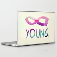 forever young Laptop & iPad Skins featuring Forever Young by Jacqueline Maldonado