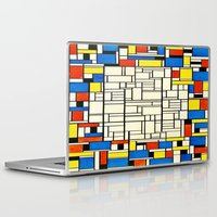 mondrian Laptop & iPad Skins featuring Mondrian by PureVintageLove