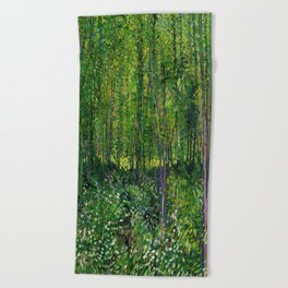 Vincent Van Gogh Trees & Underwood Beach Towel
