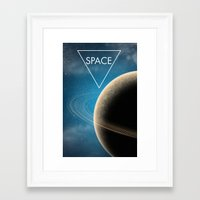 planet Framed Art Prints featuring Planet by Natalie Reed