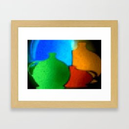 Colored jugs. Framed Art Print