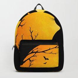 Spooky Halloween Cat Backpack