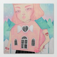 loll3 Canvas Prints featuring Dollhouse by lOll3