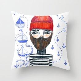 Steve the Longshoreman Throw Pillow