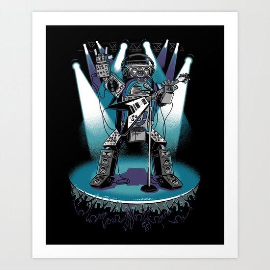 Jukebox Hero Art Print