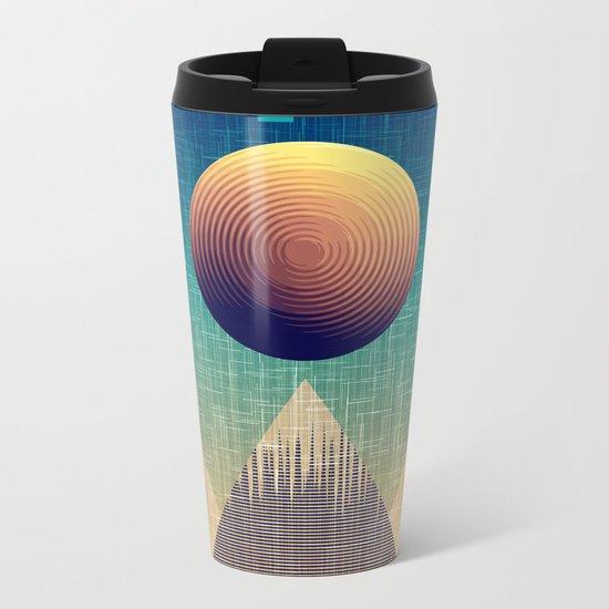 Moonrise Abstract Metal Travel Mug