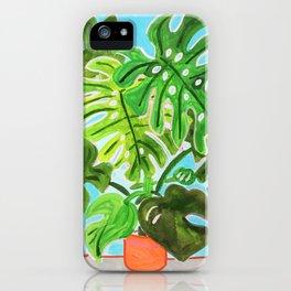 Happy Monstera iPhone Case