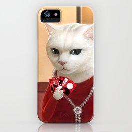 Gambler Cat iPhone Case