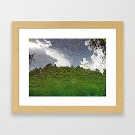The Sky swims in the lake Framed Art Print