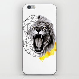 YELLOW LION iPhone Skin