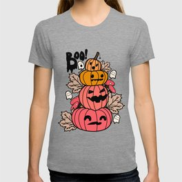Pumpkins and ghosts T-shirt