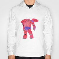 baymax Hoodies featuring baymax  by Art_By_Sarah