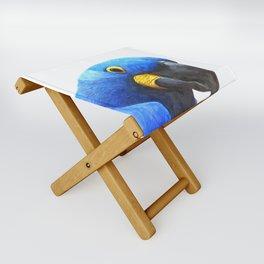 Blue Parrot Portrait Folding Stool