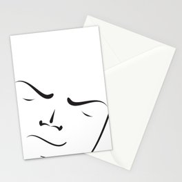 Brush my face Stationery Cards