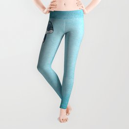 Love Ya! ~ Baby Dolphin by Amber Marine ~ Blue ~ (Copyright 2014) Leggings