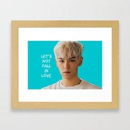 Bigbang MADE Let's Not Fall In Love T.O.P Framed Art Print