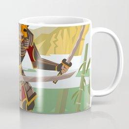 samurai warrior in the mountain Coffee Mug