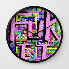 FUK IT Wall Clock