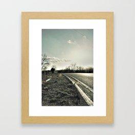 Road to Cele Framed Art Print