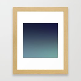 NIGHT SWIM - Minimal Plain Soft Mood Color Blend Prints Framed Art Print
