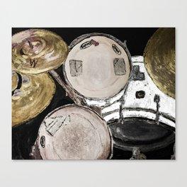 drum set, ready to rock Canvas Print
