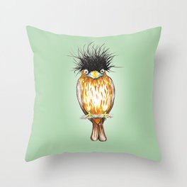 Brahminy starling Throw Pillow