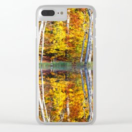 Autumn Reflection Clear iPhone Case