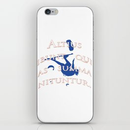 They Will Rise Highest Who Strive Highest Latin Quote iPhone Skin