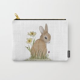 Rabbit Among the Flowers Carry-All Pouch