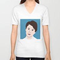 ezra koenig V-neck T-shirts featuring Ezra Koenig by LAUNCH