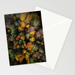 Autumn Forest - Aerial Photography Stationery Cards