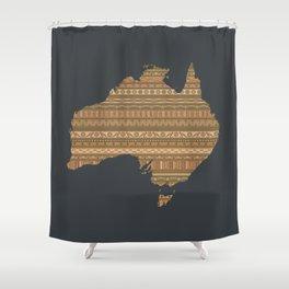 Australian map Shower Curtain