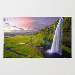 Seljalandsfoss, Iceland waterfall Rug