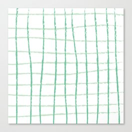 Green Grid Canvas Print
