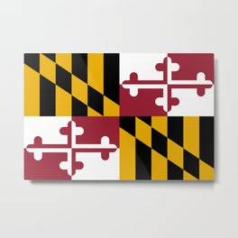 Flag of Maryland, High Quality image Metal Print