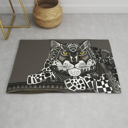 snow leopard lead Rug