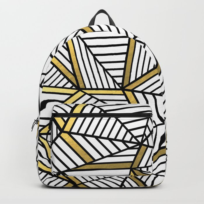 Ab Lines 2 White Gold Backpack