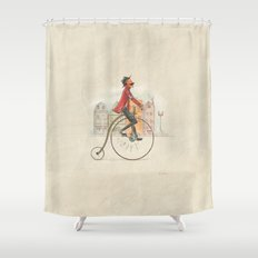 Old cycling Shower Curtain