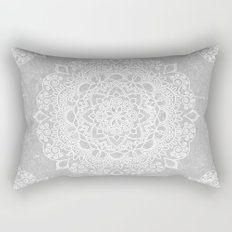 Mandala on concrete Rectangular Pillow