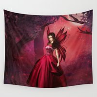 ruby Wall Tapestries featuring Ruby by Fairytale Art