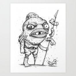 Stop fishing, for fun or food. Art Print