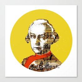 Mozart Kugel Yellow Canvas Print