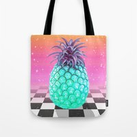 pineapple Tote Bags featuring Pineapple by Danny Ivan
