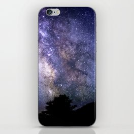 The Milky Way Violet Blue iPhone Skin