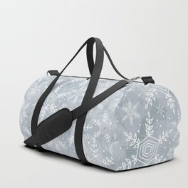 Snowflake pattern gray Duffle Bag