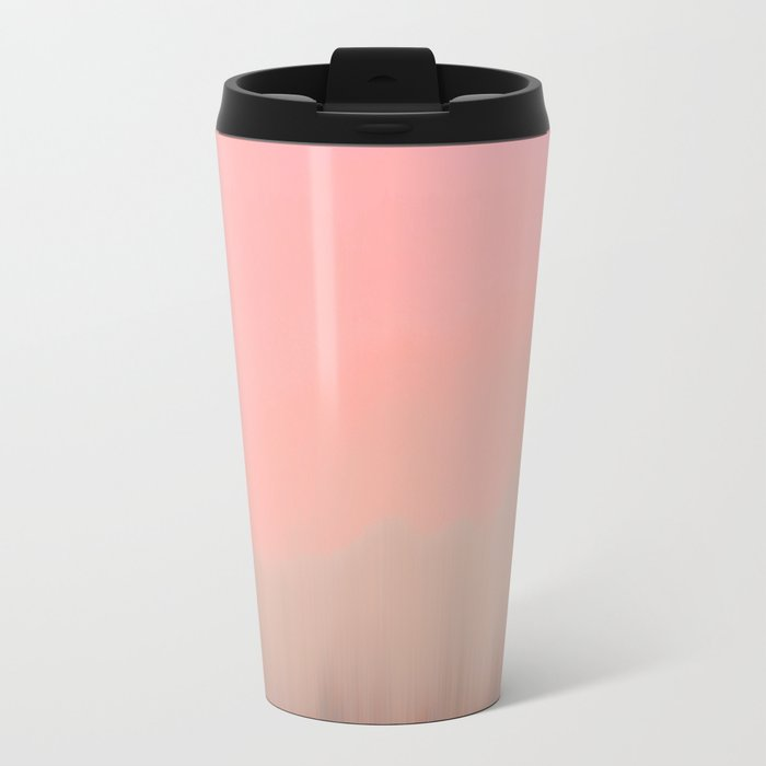 Coral Fog Metal Travel Mug