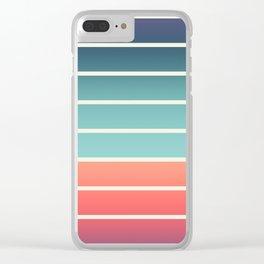 Beach Stripe 2 Clear iPhone Case