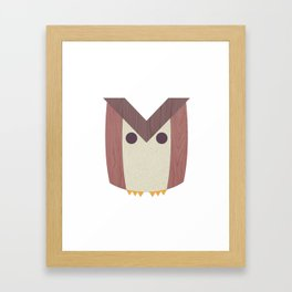 M Owl Framed Art Print