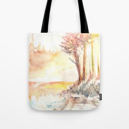 Watercolor Landscape 03 Tote Bag